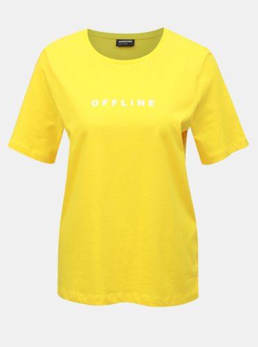 Žluté tričko s potiskem Noisy May Offline