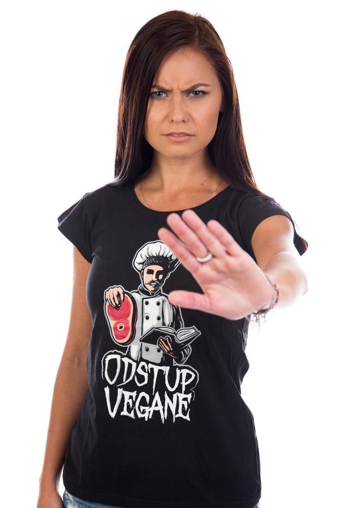 Odstup vegane černé dámské tričko