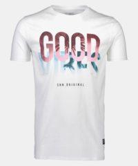 Bílé tričko s potiskem Shine Original