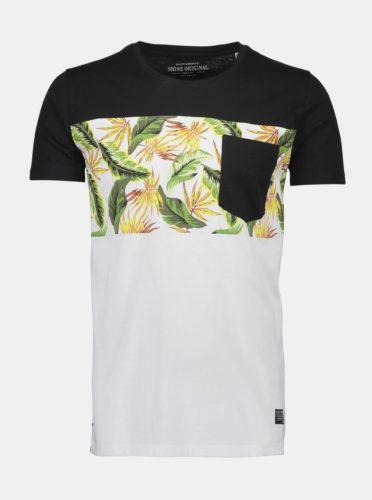 Bílé vzorované tričko Shine Original