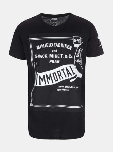 Černé pánské tričko Smack Immortal by Anna Mimieux