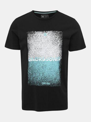 Černé tričko s potiskem Jack & Jones CORE Sound