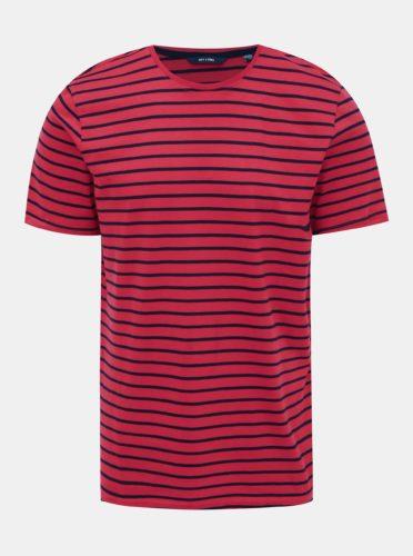 Červené pruhované tričko ONLY & SONS Boinka