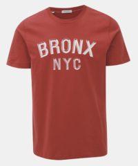 Červené tričko s potiskem Selected Homme Paul