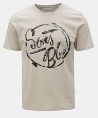 Krémové tričko s potiskem ONLY & SONS Lounge
