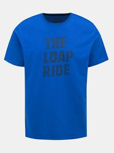 Modré pánské tričko s potiskem LOAP Antony