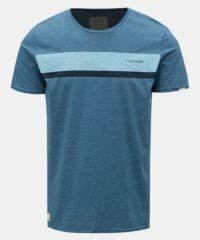 Modré pánské tričko s potiskem Ragwear Hake Organic