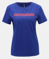 Modré tričko s potiskem ONLY Sense