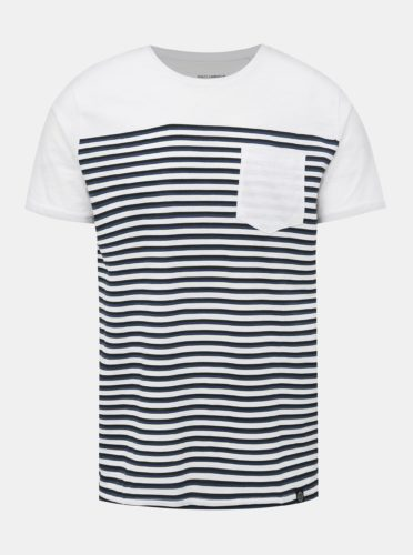 Modro-bílé pruhované tričko s kapsou Shine Original
