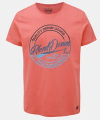 Oranžové tričko s potiskem Blend