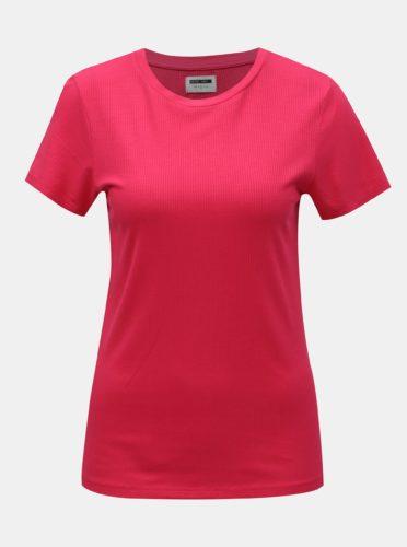 Růžové basic tričko Noisy May Melse