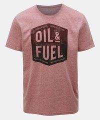 Růžové pánské žíhané tričko Tom Tailor