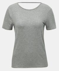 Šedé tričko s výstřihem na zádech Noisy May
