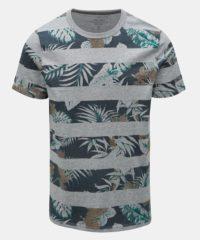 Šedé vzorované tričko Jack & Jones Rise