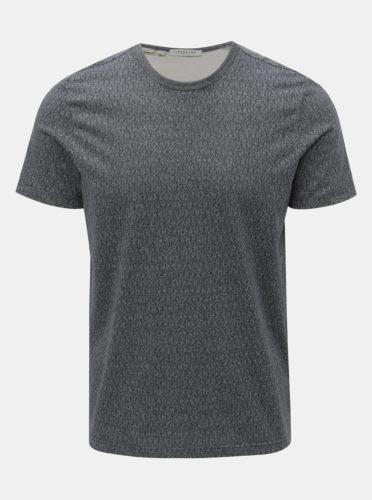 Šedé vzorované tričko Selected Homme Sander