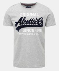 Šedé žíhané pánské tričko Alcott