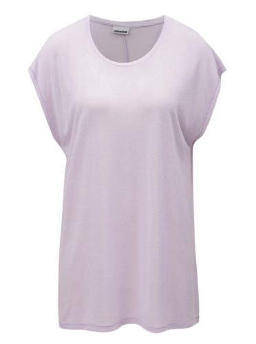 Světle fialové basic tričko Noisy May Mila
