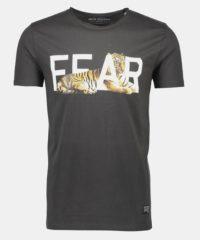 Tmavě hnědé tričko s potiskem Shine Original