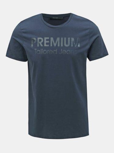 Tmavě modré slim fit tričko s potiskem Jack & Jones Logo