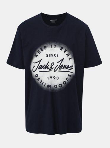 Tmavě modré tričko Jack & Jones Sprayed