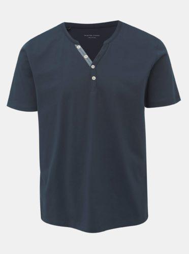 Tmavě modré tričko Selected Homme Pima
