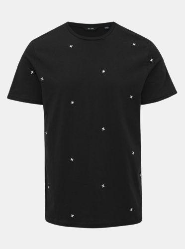 Tmavě modré vzorované tričko ONLY & SONS Kyon