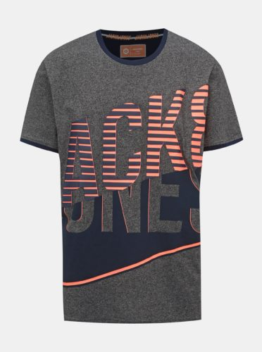 Tmavě šedé tričko s potiskem Jack & Jones Lord