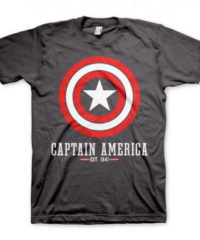 Tričko Captain America – Štít logo, šedé