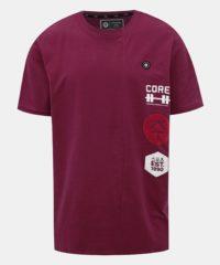 Vínové tričko s potiskem Jack & Jones Slamuel