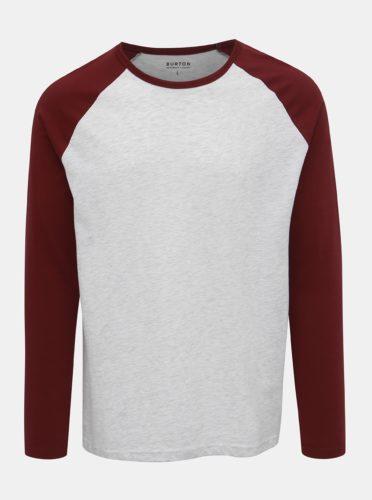 Vínovo-šedé basic tričko Burton Menswear London