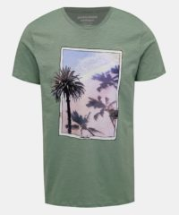 Zelené tričko s potiskem Jack & Jones Traveller