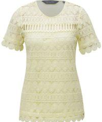 Žluté krajkové tričko Dorothy Perkins Tall