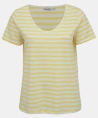 Žluté pruhované basic tričko ONLY CARMAKOMA Live