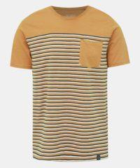 Žluté pruhované tričko s kapsou Shine Original