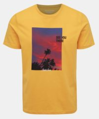 Žluté tričko s potiskem Jack & Jones Huward