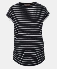 Černé pruhované těhotenské basic tričko Dorothy Perkins Maternity