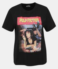 Černé tričko s potiskem TALLY WEiJL Pulp Fiction