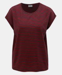 Červeno-modré pruhované basic tričko AWARE by VERO MODA Mava
