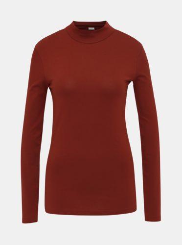 Cihlové tričko se stojáčkem Jacqueline de Yong Ava