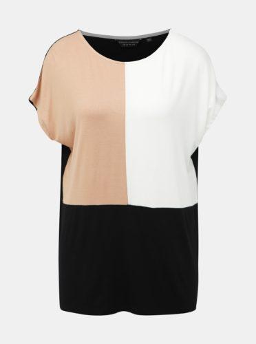 Hnědo-černé tričko Dorothy Perkins