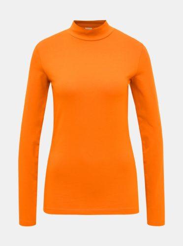 Oranžové tričko se stojáčkem Jacqueline de Yong Ava