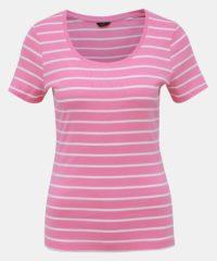 Růžové pruhované basic tričko M&Co Bretton