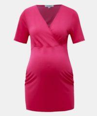 Růžové těhotenské/kojicí tričko Dorothy Perkins Maternity