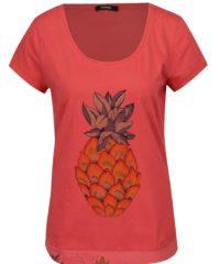 Růžové tričko s krátkým rukávem Desigual Rachell