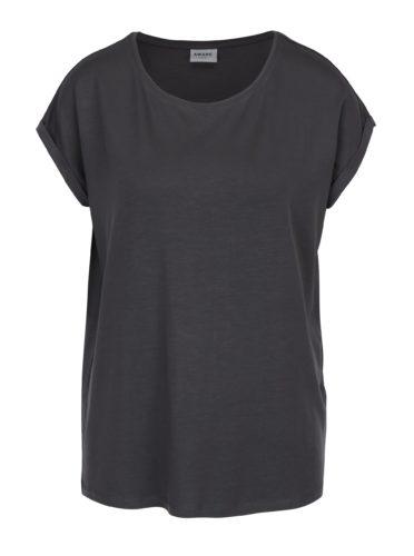 Šedé basic tričko s krátkým rukávem AWARE by VERO MODA Ava