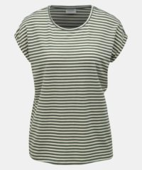 Zelené pruhované basic tričko AWARE by VERO MODA Ava